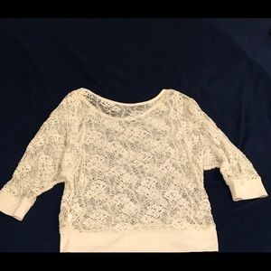 Three Quarter Sleeves Lace Top
